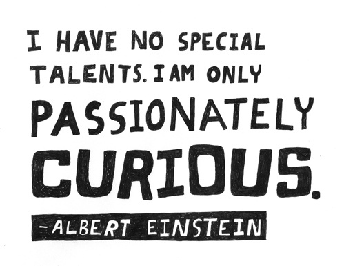 """Imagini pentru """"I have no special talent. I am only passionately curious."""""""
