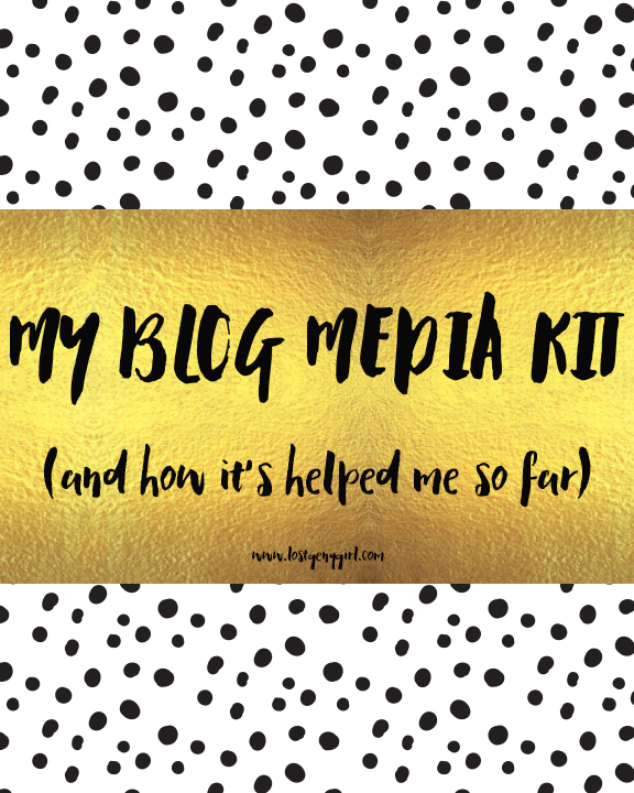 My Blog Media Kit (and how it's helped me so far)