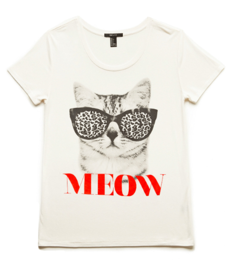 feline sunglasses t-shirt