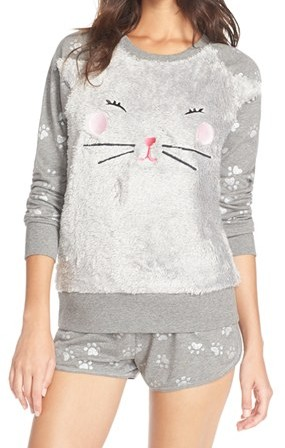 kitty fleece pajama