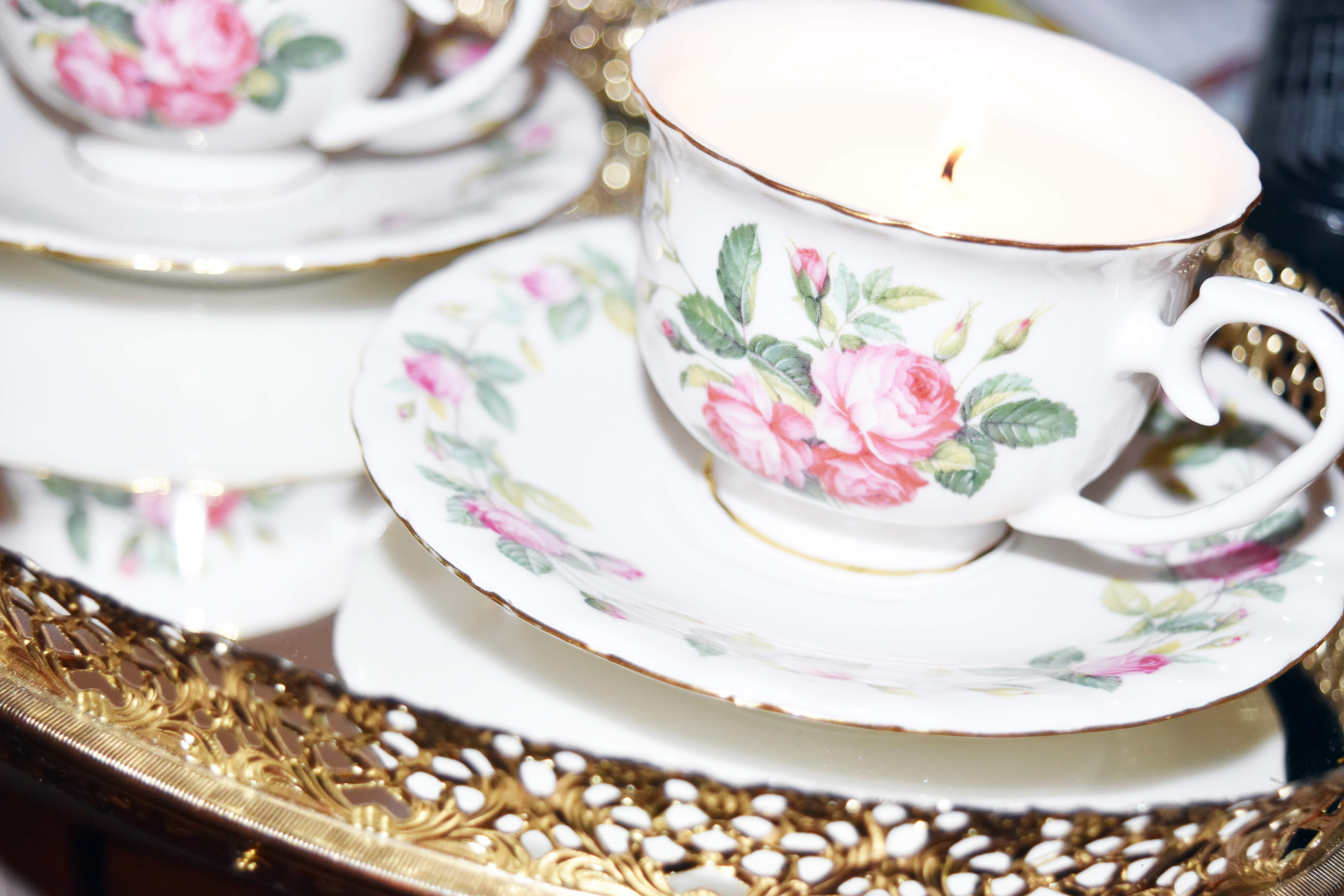 DIY Teacup Candle 7