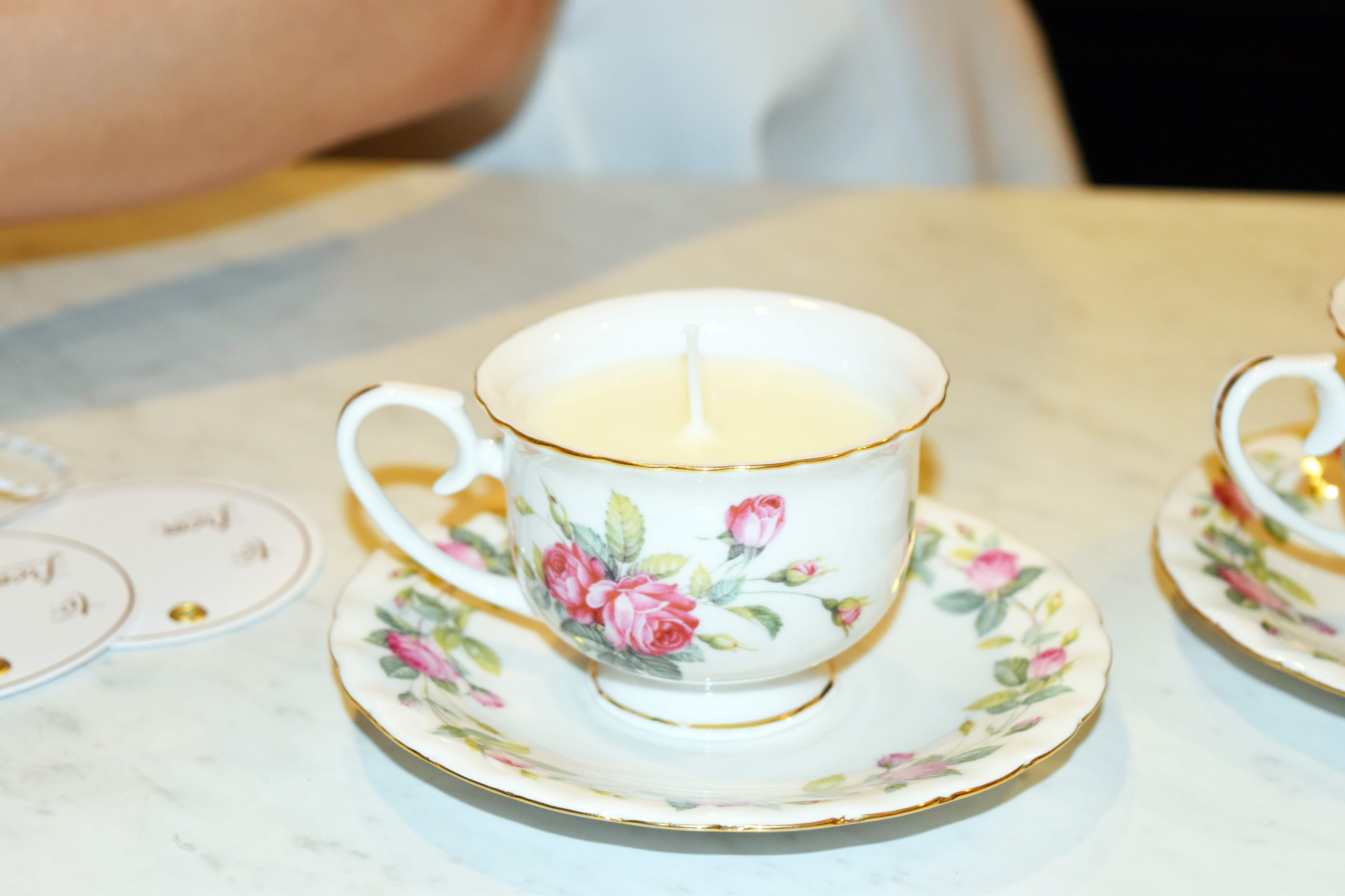 DIY Teacup Candles 21
