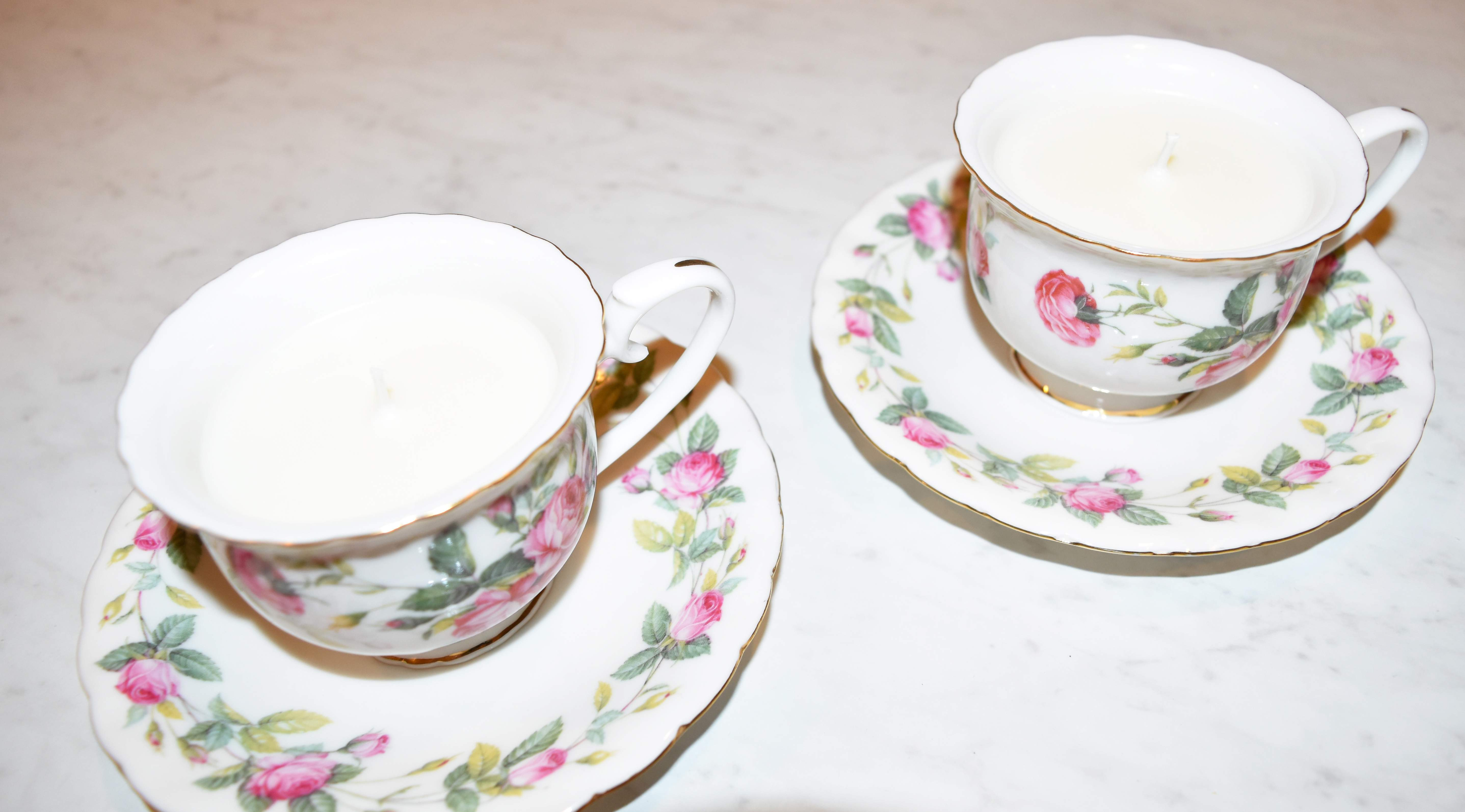 DIY Teacup Candles 26