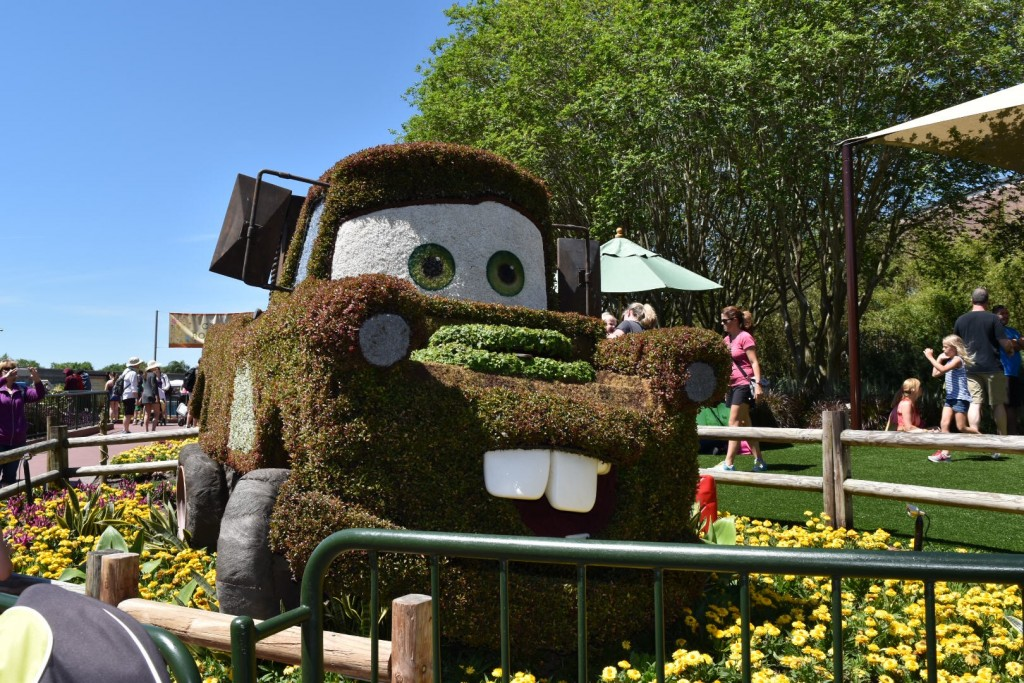 cars epcot flower and garden