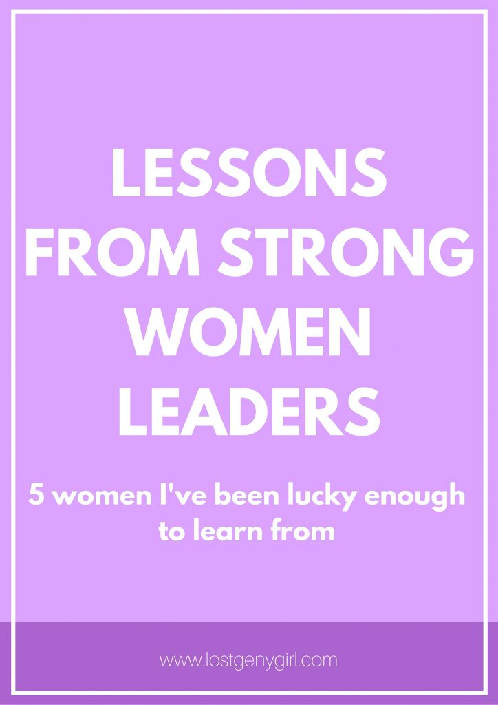 Lessons From Strong Women Leaders