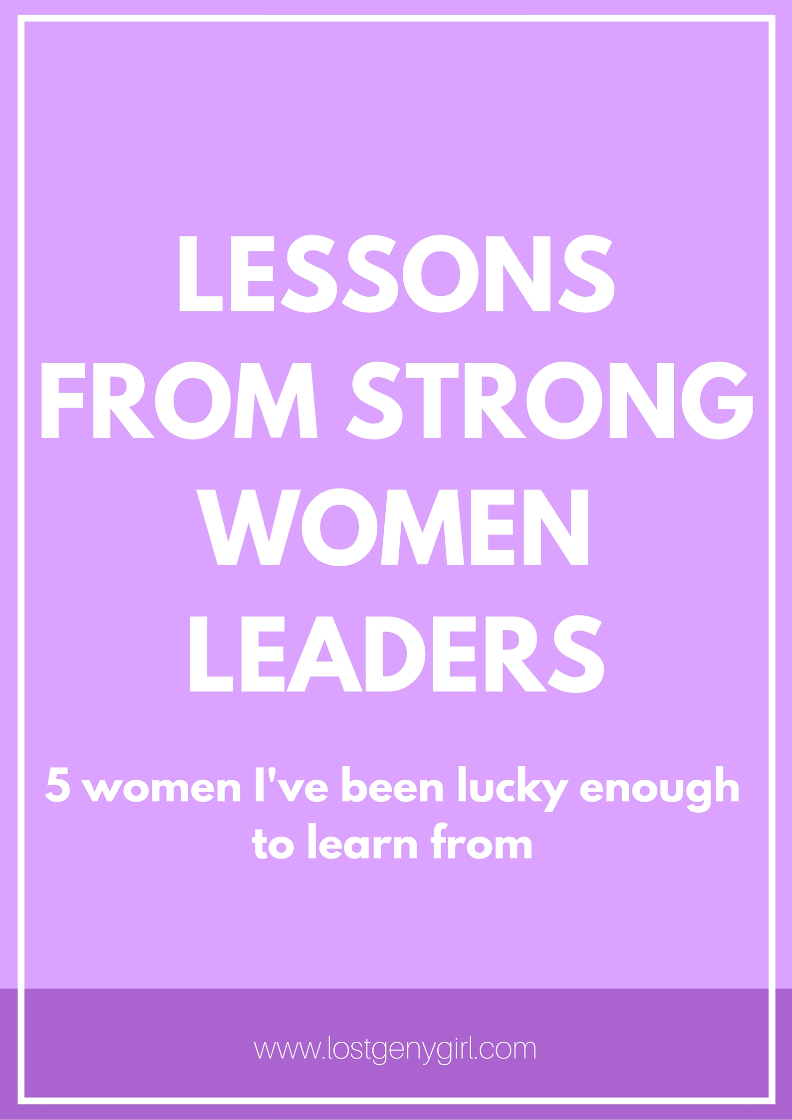 Lessons From Strong Women Leaders + Zenni Optical Giveaway