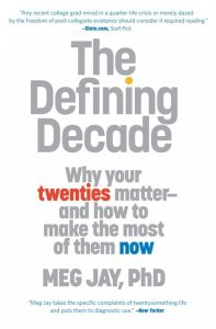 the important years of your life in the defining decade a book by meg jay The defining decade dr meg jay,  decided to write a book about those formative years in the  your 20s are still the most important decade of your life ,.