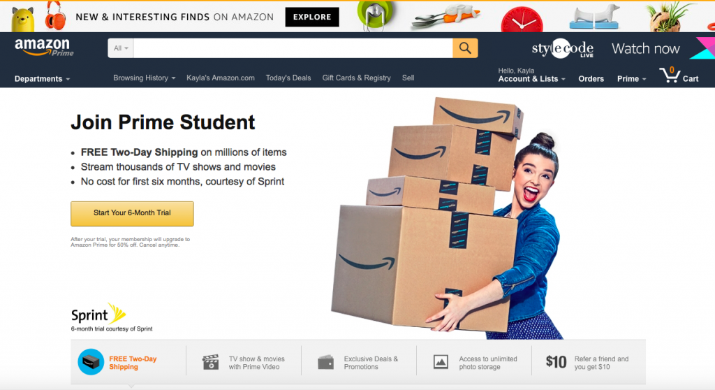 What benefits you have with Amazon Student Prime?