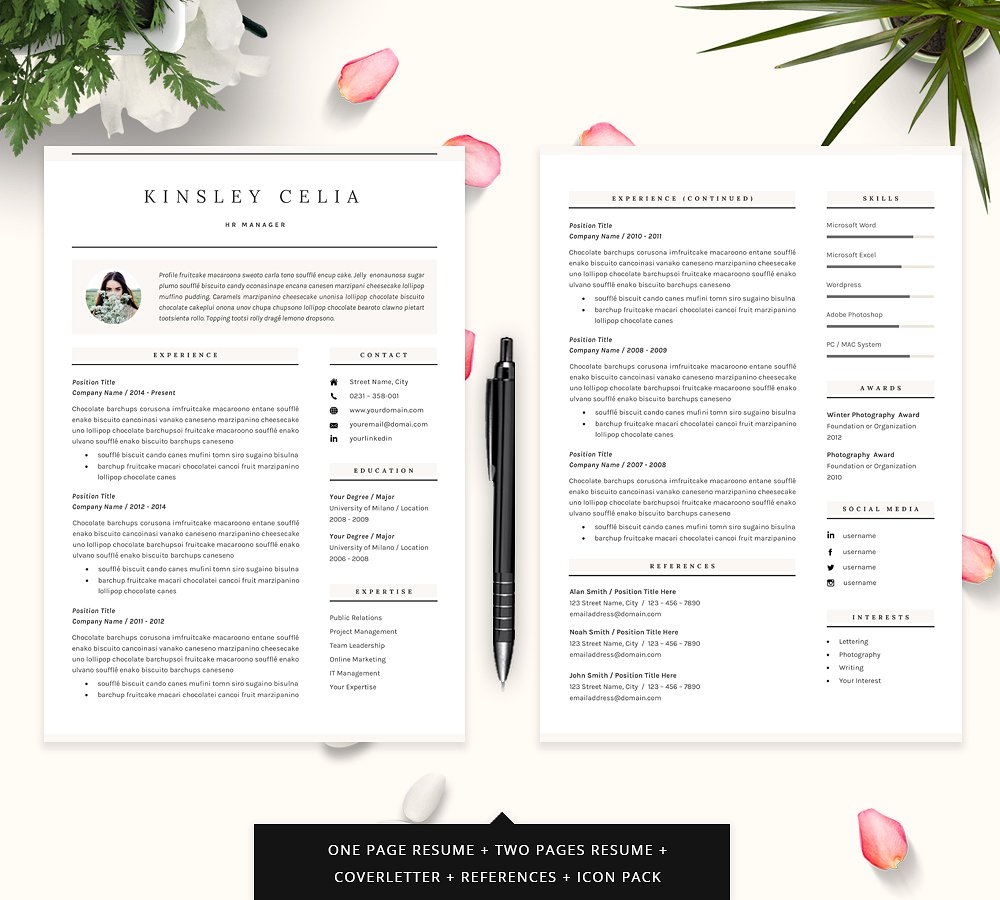 Chic Resume Template 2