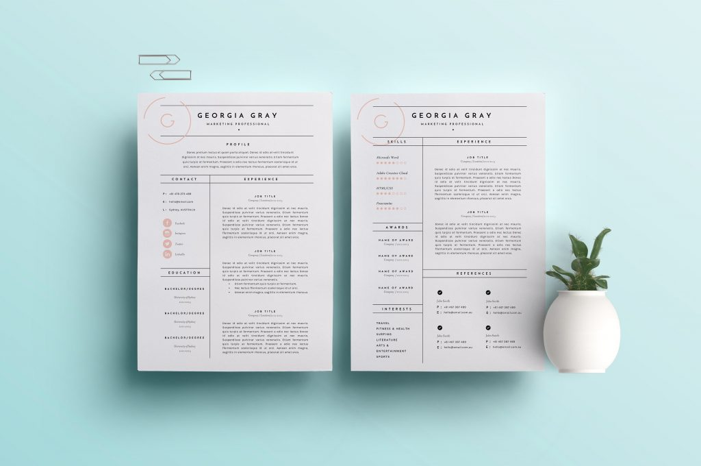 resume cover letter template 15