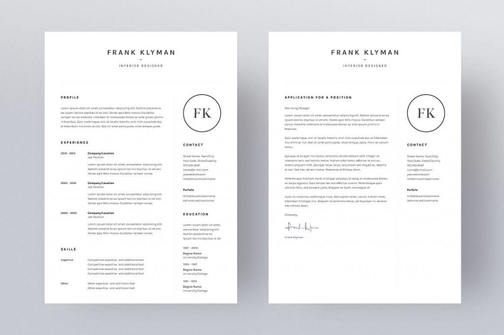 clean resume design