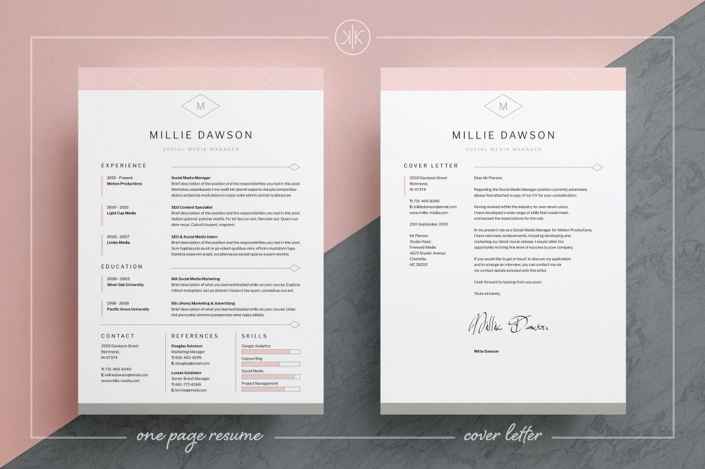 Resume Template  Resume Templates That Stand Out