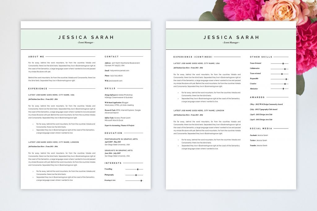 Pretty Resume Templates Resume Cover Letter Resume Cover Letter