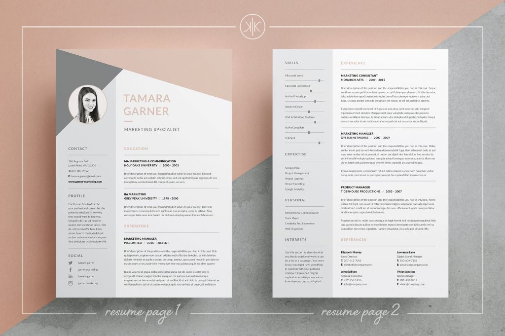 professional resume templates psd with photo word template free download