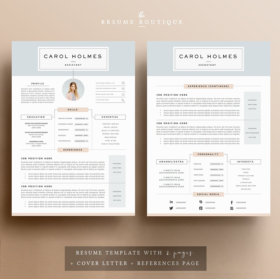 Superb Milky Way Resume Template U2013 $15  Resume Templates That Stand Out