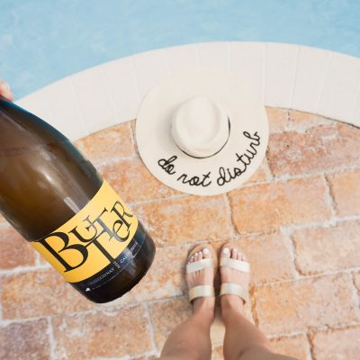 Mom's Pool Day Away With Butter Chardonnay!