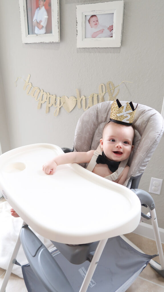 half birthday party crown